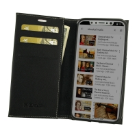 Leather Book Stand Wallet Case for Apple iPhone X | iPhone 10