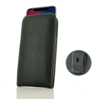 Leather Vertical Pouch Belt Clip Case for Apple iPhone X | iPhone 10