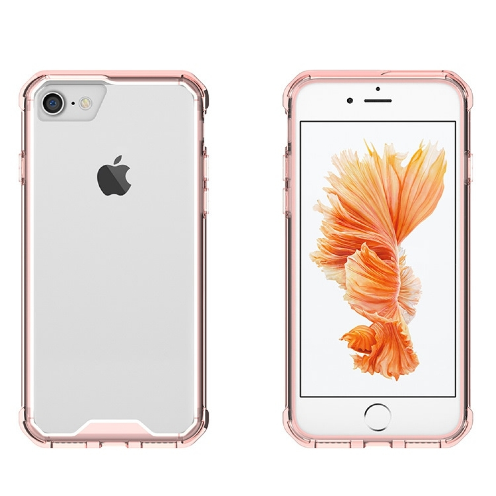 Shockproof Anti-scratch Clear Hard Plastic for Apple iPhone X | iPhone 10 (Pink)