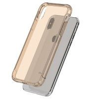 Soft Clear Case Back Cover for Apple iPhone X | iPhone 10 (Gold)