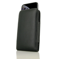 Leather Vertical Pouch Case for Apple iPhone XS ( Compatible with 1.0 mm Slim Case / Cover on )