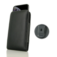 Leather Vertical Pouch Belt Clip Case for Apple iPhone XS ( Compatible with 1.0 mm Slim Case / Cover on )