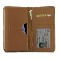 Leather Card Wallet for Apple iPhone XS (Brown)