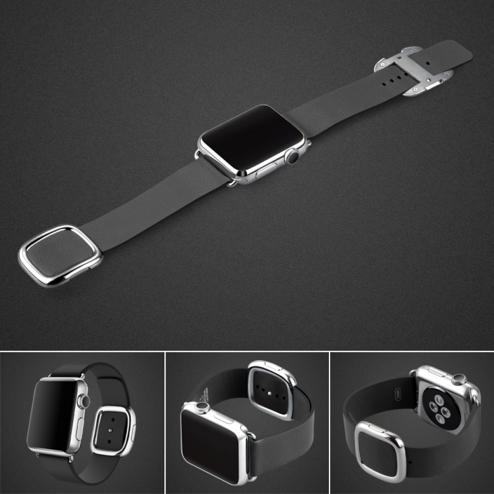 10% OFF + FREE SHIPPING, Buy Best PDair Quality Apple Watch 38mm Modern Buckle Genuine Leather Smart Band Strap (Black) online.Designed for Apple Watch 38mm You also can go to the customizer to create your own stylish leather case if looking for additiona