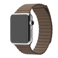 Leather Loop Band Strap for Apple Watch 42mm (Light Brown)