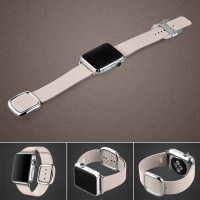 Apple Watch 42mm Modern Buckle Leather Smart Band Strap (Pink):: PDair