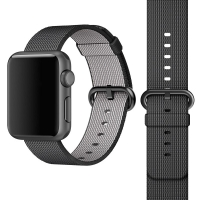 Apple Watch 42mm Woven Nylon Band Strap (Black):: PDair