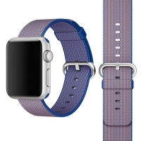 Apple Watch 42mm Woven Nylon Band Strap (Blue):: PDair