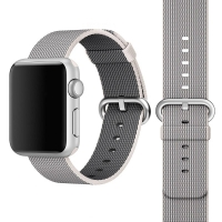 Apple Watch 42mm Woven Nylon Band Strap (Grey):: PDair
