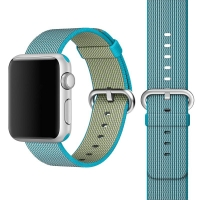 Apple Watch 42mm Woven Nylon Band Strap (Light Blue):: PDair