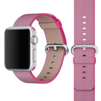 Apple Watch 42mm Woven Nylon Band Strap (Petal Pink):: PDair