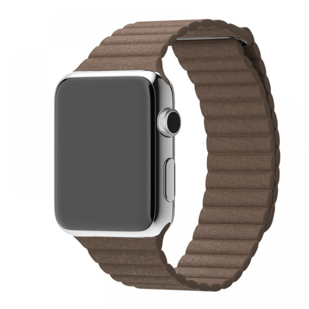 Apple Watch Series 4 40mm Leather Loop Band Strap (Beige) best cellphone case by PDair