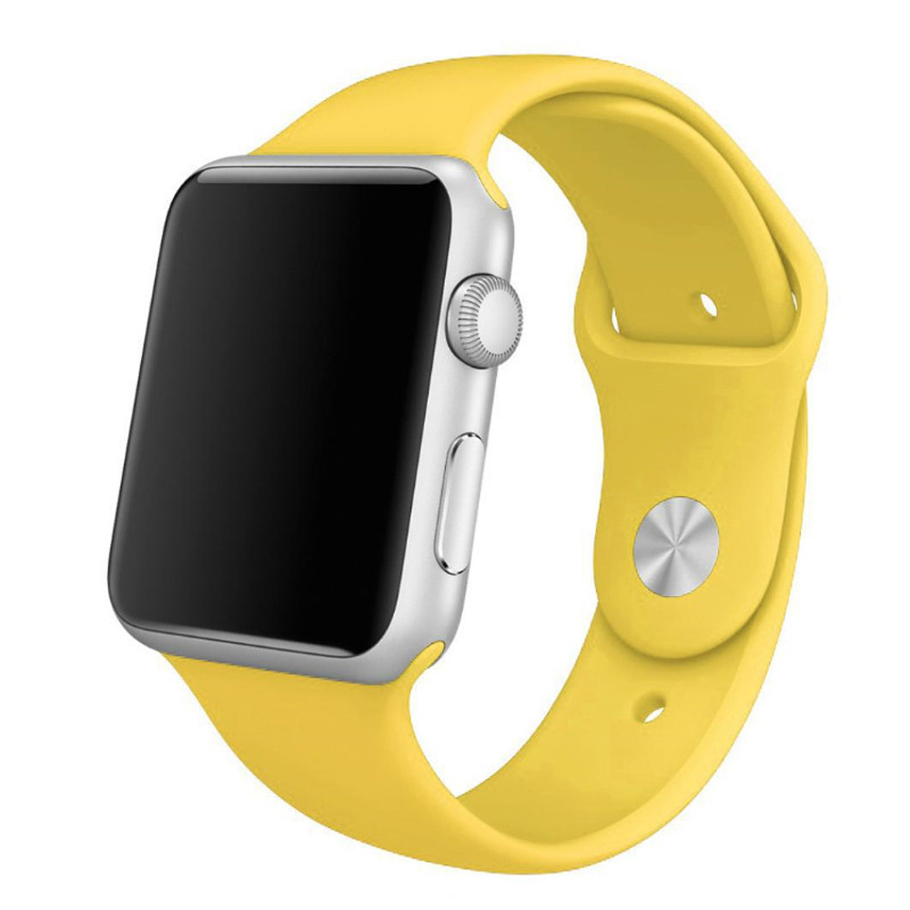 Sport Band Strap for Apple Watch Series 3 38mm (Yellow)