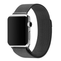 Apple Watch Series 5 | Series 4 44mm Milanese Loop Band Strap (Black) is designed to wear fashionable look to your device. A modern interpretation of a design developed in Milan at the end of the 19th century. Woven on specialized Italian machines, the sm
