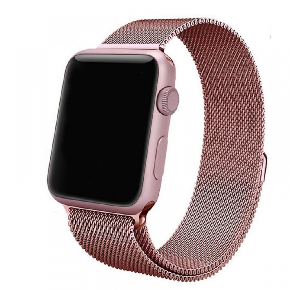 Apple Watch Series 5 | Series 4 44mm Milanese Loop Band Strap (Rose Gold) is designed to wear fashionable look to your device. A modern interpretation of a design developed in Milan at the end of the 19th century. Woven on specialized Italian machines, th