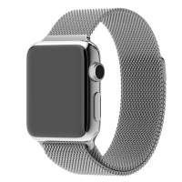 Apple Watch Series 5 | Series 4 44mm Milanese Loop Band Strap (Silver) is designed to wear fashionable look to your device. A modern interpretation of a design developed in Milan at the end of the 19th century. Woven on specialized Italian machines, the s