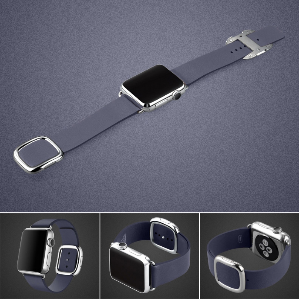 Apple Watch Series 5 | Series 4 44mm Modern Buckle Leather Smart Band Strap (Deep Blue) is designed to wear fashionable look to your device. It can personalize your iWatch with this refined strap compared to Apple ones, but more attractive cost.It is 1:1
