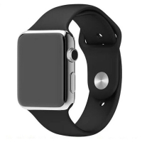 Apple Watch Series 4 44mm Sport Band Strap (Black) is made from a custom high-performance fluoroelastomer, the silicone Sport Band is durable and strong, yet surprisingly soft. The smooth, dense material drapes elegantly across your wrist and feels comfor