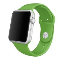 Apple Watch Series 5 | Series 4 44mm Sport Band Strap (Green) is made from a custom high-performance fluoroelastomer, the silicone Sport Band is durable and strong, yet surprisingly soft. The smooth, dense material drapes elegantly across your wrist and f