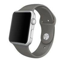 Apple Watch Series 5 | Series 4 44mm Sport Band Strap (Grey) is made from a custom high-performance fluoroelastomer, the silicone Sport Band is durable and strong, yet surprisingly soft. The smooth, dense material drapes elegantly across your wrist and fe