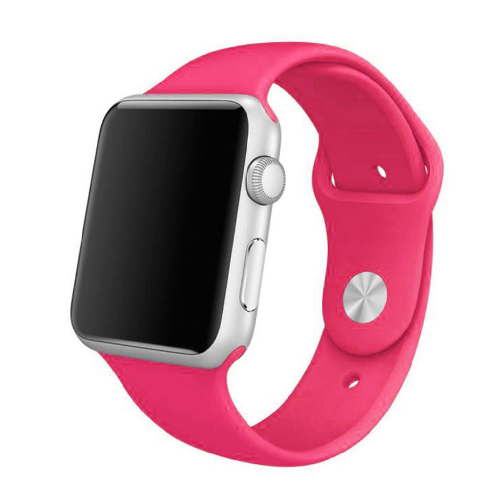 Apple Watch Series 5 | Series 4 44mm Sport Band Strap (Petal Pink) is made from a custom high-performance fluoroelastomer, the silicone Sport Band is durable and strong, yet surprisingly soft. The smooth, dense material drapes elegantly across your wrist