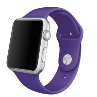 Apple Watch Series 5 | Series 4 44mm Sport Band Strap (Purple) is made from a custom high-performance fluoroelastomer, the silicone Sport Band is durable and strong, yet surprisingly soft. The smooth, dense material drapes elegantly across your wrist and