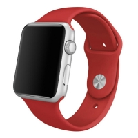 Apple Watch Series 5 | Series 4 44mm Sport Band Strap (Red) is made from a custom high-performance fluoroelastomer, the silicone Sport Band is durable and strong, yet surprisingly soft. The smooth, dense material drapes elegantly across your wrist and fee