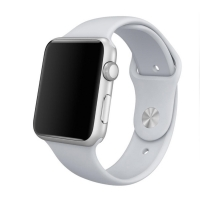 Apple Watch Series 5 | Series 4 44mm Sport Band Strap (White) is made from a custom high-performance fluoroelastomer, the silicone Sport Band is durable and strong, yet surprisingly soft. The smooth, dense material drapes elegantly across your wrist and f