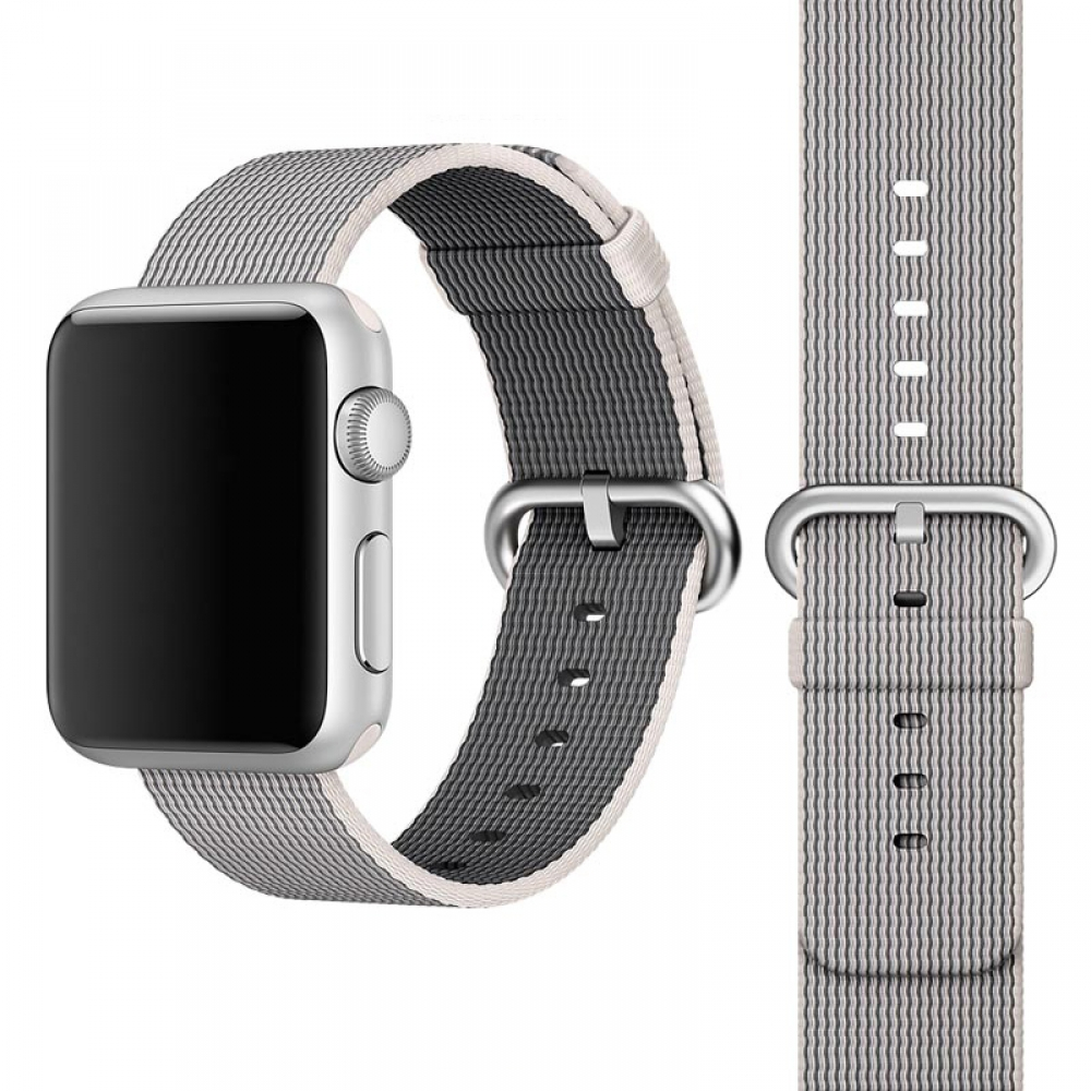 Apple Watch Series 5 | Series 4 44mm Woven Nylon Band Strap (Grey) is designed to wear fashionable look to your device. It can personalize your iWatch with this refined strap compared to Apple ones, but more attractive cost. Woven on specialized Italian m