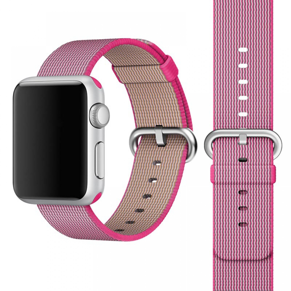 Apple Watch Series 5 | Series 4 44mm Woven Nylon Band Strap (Petal Pink) is designed to wear fashionable look to your device. It can personalize your iWatch with this refined strap compared to Apple ones, but more attractive cost. Woven on specialized Ita