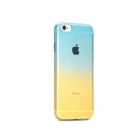 Aqua to Yellow Gradient iPhone 6s 6 Plus SE 5s 5 Soft Clear Case