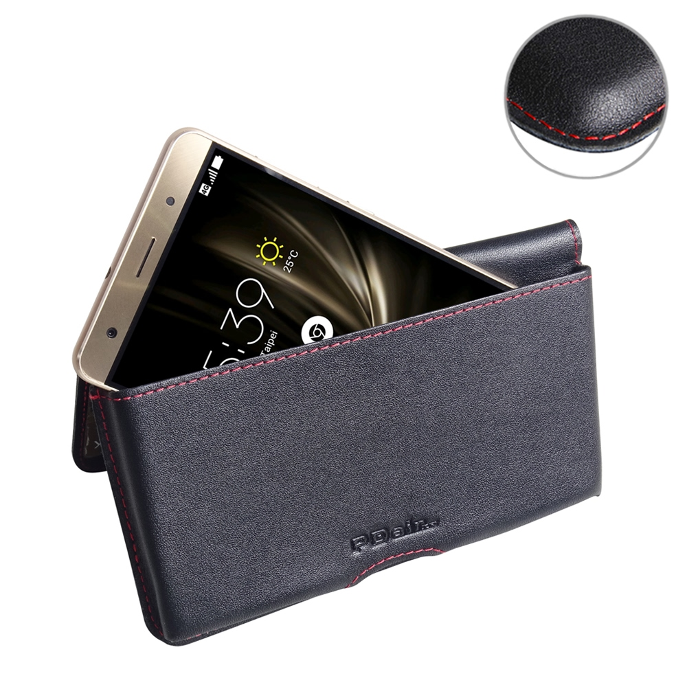 asus zenfone 3 deluxe leather wallet pouch case red. Black Bedroom Furniture Sets. Home Design Ideas