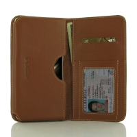 Leather Card Wallet for Asus Zenfone 3 Deluxe ZS570KL (Brown)
