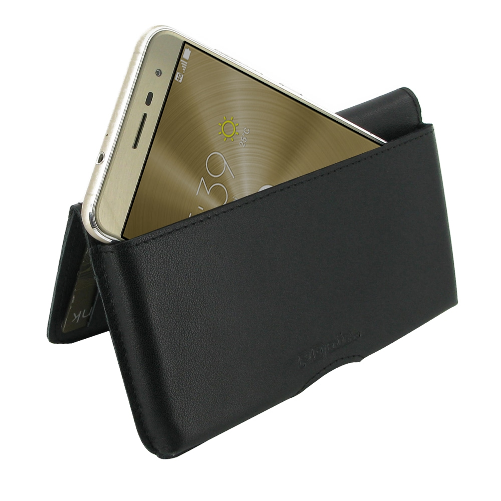asus zenfone 3 ze520kl leather wallet pouch case black. Black Bedroom Furniture Sets. Home Design Ideas