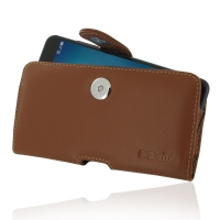 Leather Horizontal Pouch Case with Belt Clip for Asus Zenfone 3 Zoom ZE553KL (Brown)