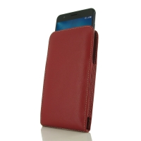 Leather Vertical Pouch Case for Asus Zenfone 3 Zoom ZE553KL (Red)