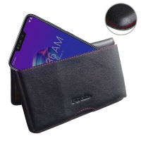 10% OFF + FREE SHIPPING, Buy the BEST PDair Handcrafted Premium Protective Carrying Asus Zenfone Max (M2) Leather Wallet Pouch Case (Red Stitch). Exquisitely designed engineered for Asus Zenfone Max (M2).