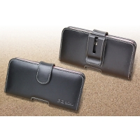Leather Horizontal Pouch Case with Belt Clip for au rafre KYV40