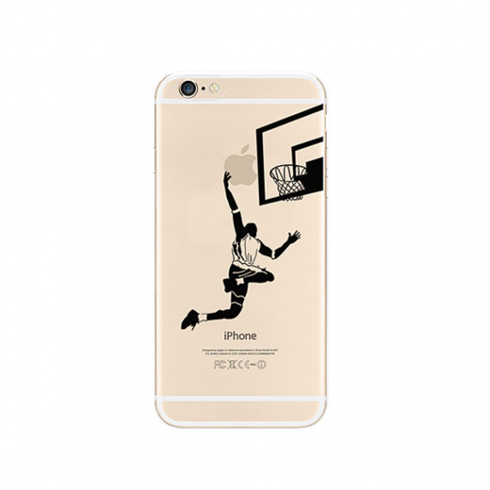 10% OFF + FREE SHIPPING, Buy PDair iPhone Pattern Printed Soft Clear Case Basketball Slam Dunk which is available for iPhone 5 | iPhone 5s SE 6 6s, iPhone 6 Plus | iPhone 6s Plus. You also can go to the customizer to create your own stylish leather case i