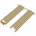 Bracelet Genuine Five Round Beads Alloy Watch Band Wrist Strap for Apple Watch Series 2 38mm (Gold)