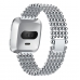 Apple Watch Series 5 | Series 4 44mm Bracelet Genuine Five Round Beads Alloy Watch Band Wrist Strap (Silver) is designed to wear fashionable look to your device. Handmade Fashion Alloy solid with interlock clasp design, make your smartwatch looks special