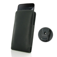 BlackBerry DTEK60 Pouch Case with Belt Clip PDair Premium Hadmade Genuine Leather Protective Case Sleeve Wallet