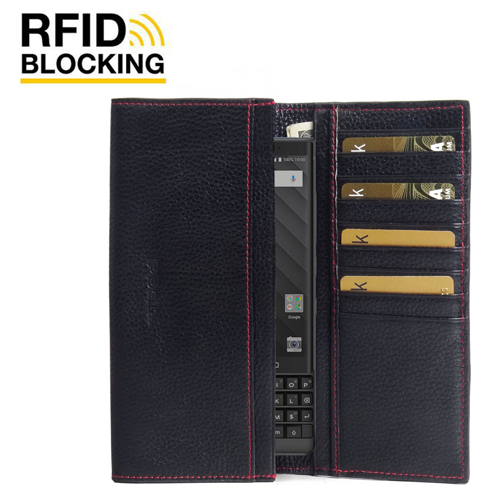 10% OFF + FREE SHIPPING, Buy the BEST PDair Handcrafted Premium Protective Carrying BlackBerry KEY2 Leather Continental Sleeve Wallet (Red Stitching). Exquisitely designed engineered for BlackBerry KEY2.