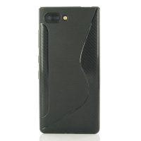 Soft Plastic Case for BlackBerry KEY2 (Black S Shape pattern)