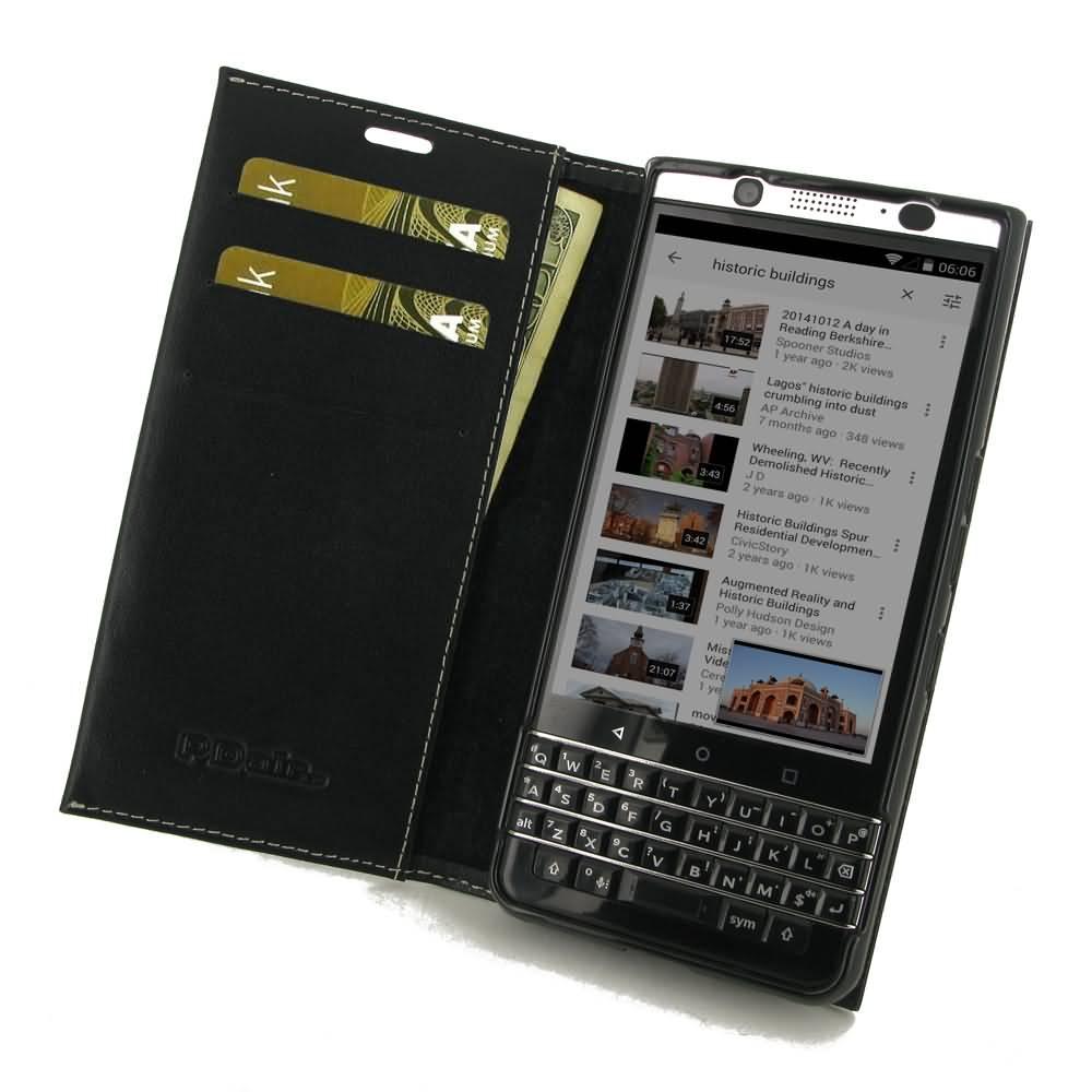 timeless design 26666 6a229 BlackBerry KEYone Holster Pouch Wallet Sleeve PDair Flip Case