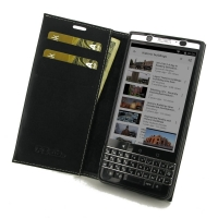 Leather Book Stand Wallet Case for BlackBerry KEYone | Mercury | DTEK70