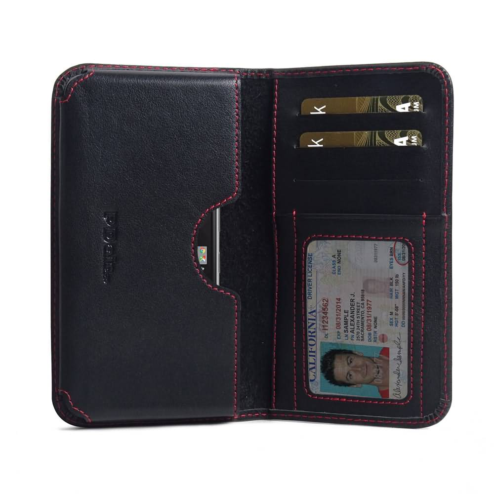 Buy Best PDair Handmade Protective BlackBerry KEYone | Mercury | DTEK70 Genuine Leather Wallet Sleeve Case (Red Stitch). Pouch Sleeve Holster Wallet  You also can go to the customizer to create your own stylish leather case if looking for additional color