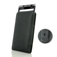 Leather Vertical Pouch Belt Clip Case for BlackBerry KEYone | Mercury | DTEK70