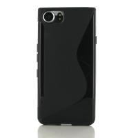 Soft Plastic Case for BlackBerry KEYone | Mercury | DTEK70 (Black S Shape pattern)