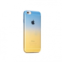 Blue to Yellow Gradient iPhone 6s 6 Plus SE 5s 5 Soft Clear Case
